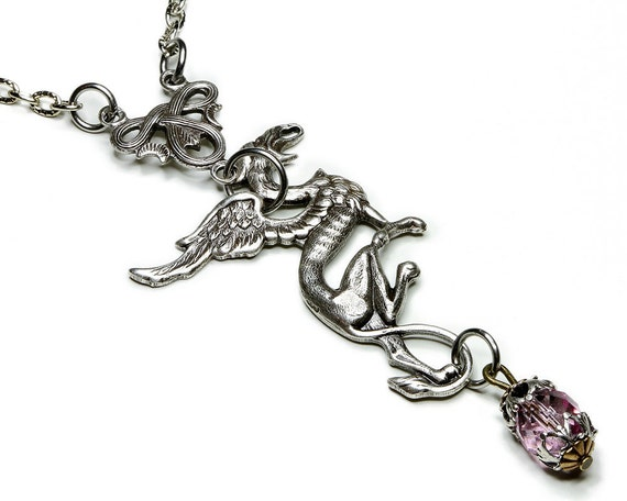 Steampunk Necklace - Griffin Necklace - Steampunk Jewelry