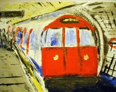 London Underground Red Train - Fine Art Print