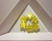 6 pcs Sun Yellow - Star Shaped Cat Eye Beads (9mm)