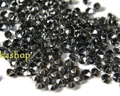 30% Off Clearance SALE: 6mm 50pcs Gunmetal grey conical hexagon studs / HIGH Quality - Fikashop