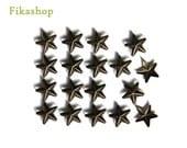 10% Off Clearance SALE: 9mm 100pcs Brass Star Studs ( 5 legs ) / HIGH Quality - Fikashop