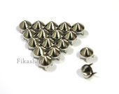 6.5mm 100pcs Tiny silver conical studs ( 4 legs )/ HIGH Quality - Fikashop