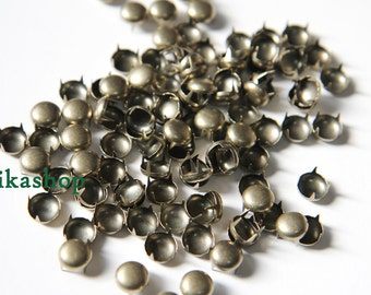 30% Off Clearance SALE: 6mm 100pcs Brass round studs / HIGH Quality -  Fikashop