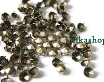30% Off Clearance SALE: 8mm 100pcs Brass conical hexagon studs / HIGH Quality - Fikashop