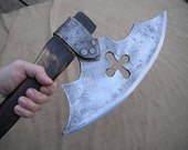 Huge hand forged bush craft axe