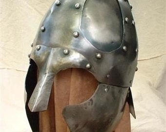 Hand forged medieval helmet / armor, Viking. Barbarian, costume, Roman