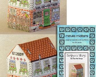 3D BrightSea Village 2 The Pet Shop Cross Stitch Pattern