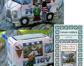 3D Cross Stitch Pattern BrightSea Village Extra 2 Ice Cream Van