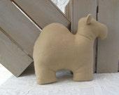 Fleece Camel Pillow