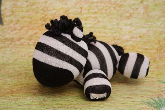 Black and White Sock Zebra