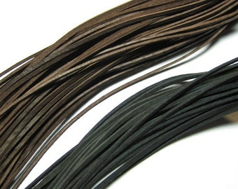 Leather cord - Black or Brown. 31inch