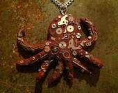 Steampunk Mechanical Octopus Necklace