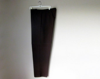 Size 24 Dark Brown Plus Size Womens Dress Slacks. Pants. Trousers.