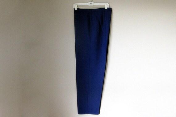 Navy Blue Plus Size Womens Dress Slacks. Pants. Size 20 Trousers