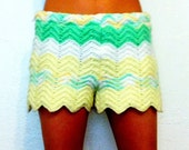 Crochet Afghan Shorts Bohemian Lady // Medium