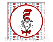 INSTANT DOWNLOAD Printable Dr. Seuss Stickers or Gift Tags (Great to be used as Party Favor Tags or even Cupcake Toppers)