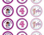 Printable Personalized Doc McStuffins Stickers or Gift Tags