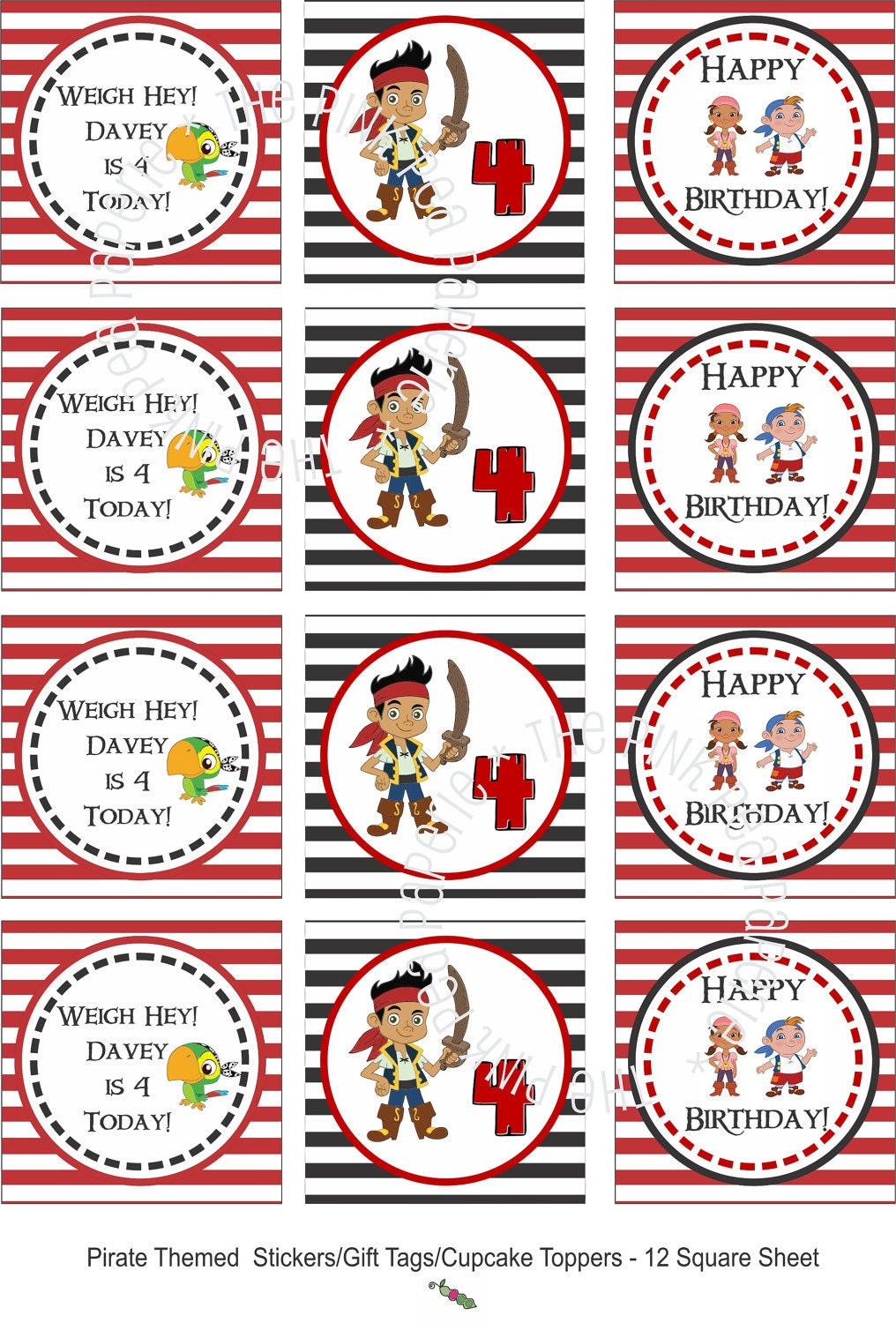 Custom Printable JAKE and the NEVERLAND PIRATES by ...