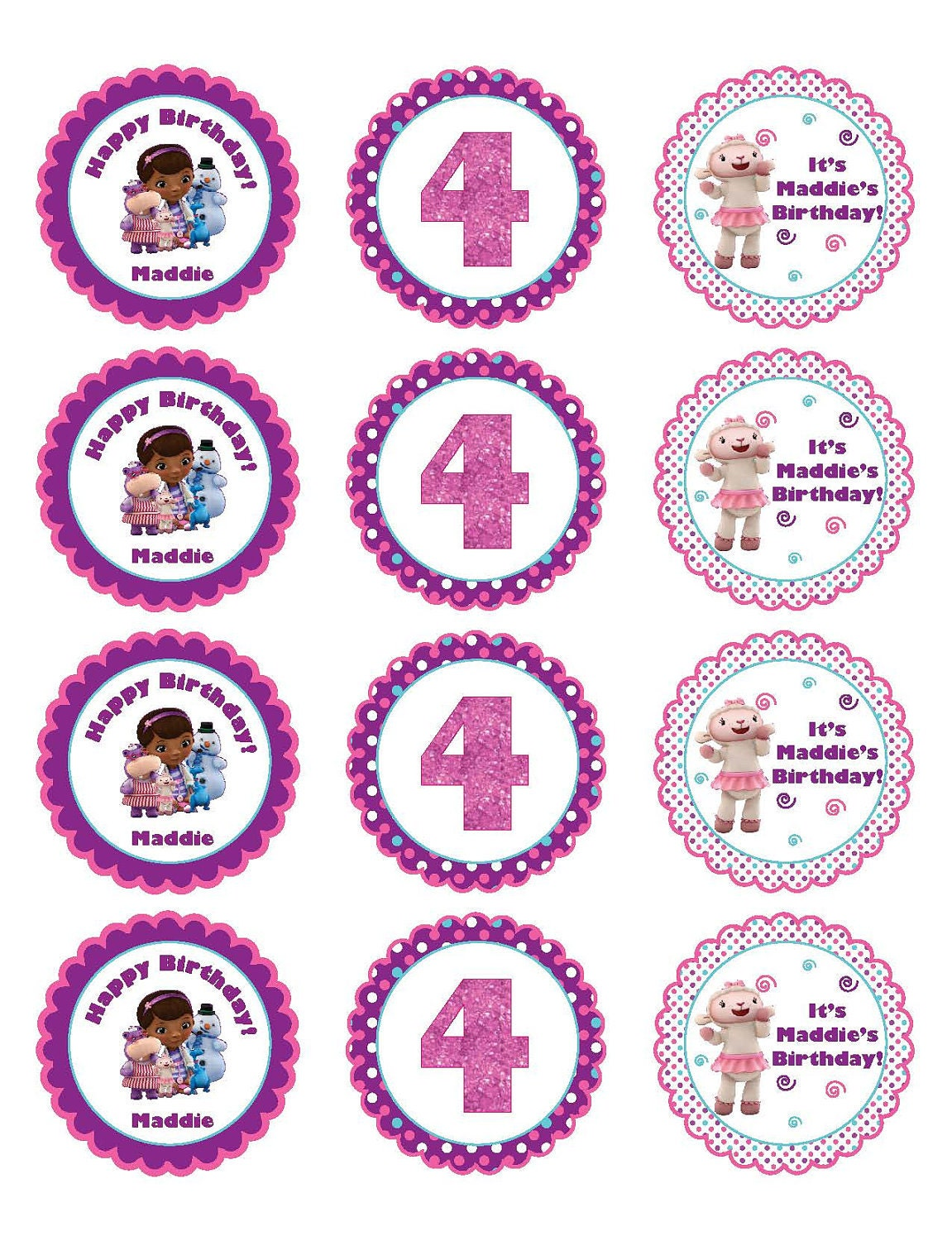 This is an image of Eloquent Free Doc Mcstuffins Printable