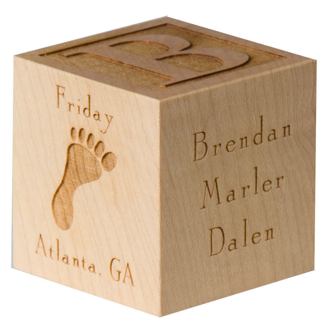 Personalized Baby Block New Baby Gift Newborn Baby Gift