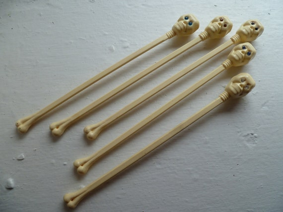 Vintage Skull Stir Sticks, Free Shipping in USA