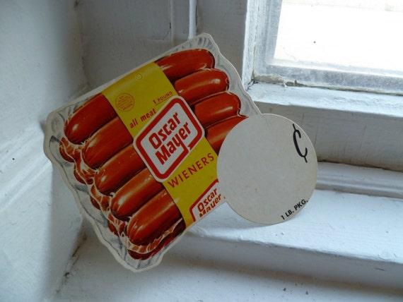 Vintage Hot Dog Advertisement, Oscar Mayer