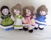 Hand knitted Victorian style doll - looking to be cherished and loved by a special little girl.........