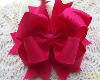 Boutique Hair Bow.....Sarsparilla Pink Double Spikey Bow
