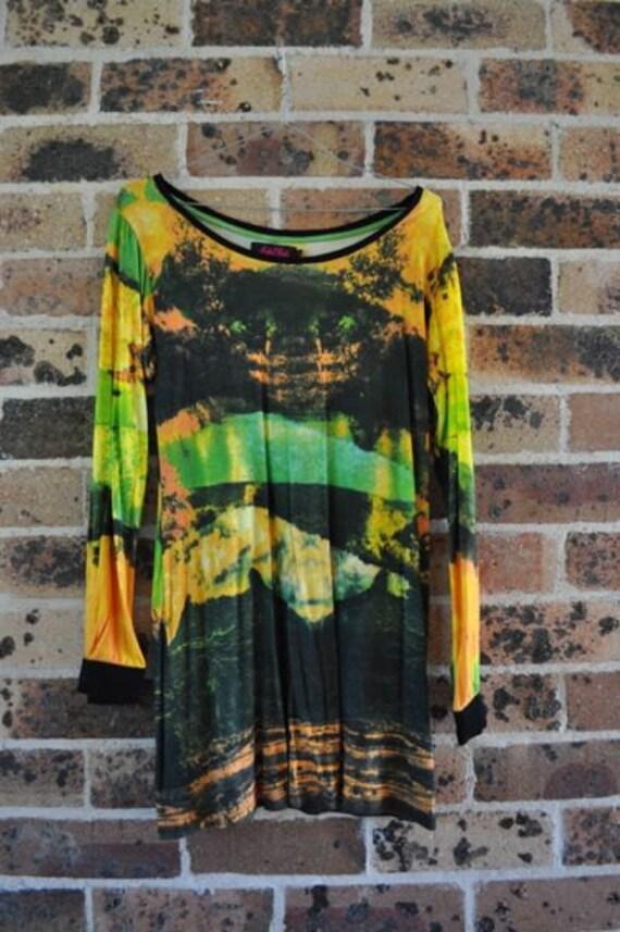 trippy motel dress acid rave grunge internet hippy tie dye