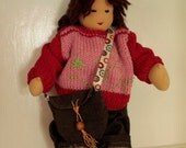 Waldorf Inspired Doll - custom 11 inch hand made doll with outfits
