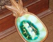 Vintage 1963 Treasure Craft of Maui, Hawaii Small Ceramic Pineapple Ashtray