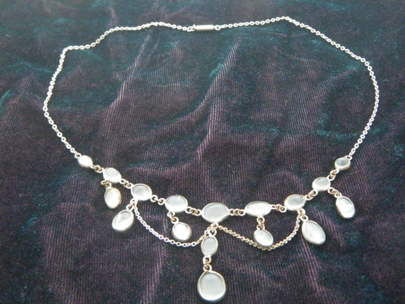 Edwardian Moonstone Swag Necklace