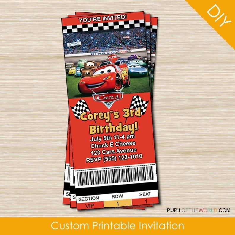 Disney Cars Birthday Invitation Templates Disney Cars Birthday Party