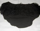 Black Ruffle Diaper Cover
