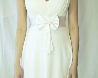 Elegant White Dress.Wedding Dress.Bridesmaid Dress.Evening Dress
