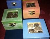 Petoskey Stone Wooden Keepsake boxes