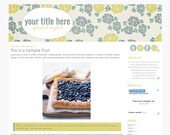 Blueberry Tart - Premade Blogger Template Design