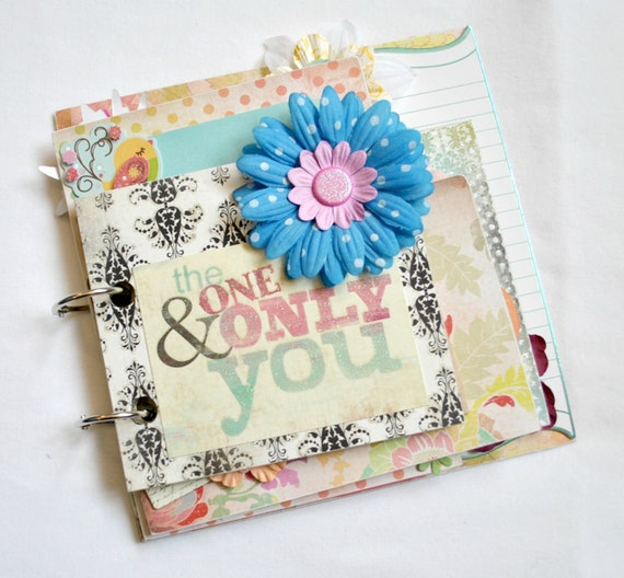The one & only you mini chipboard album