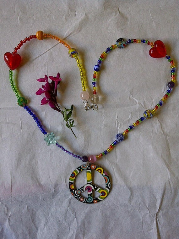 Whirled Pea's, a Groovy Pagan Made Necklace