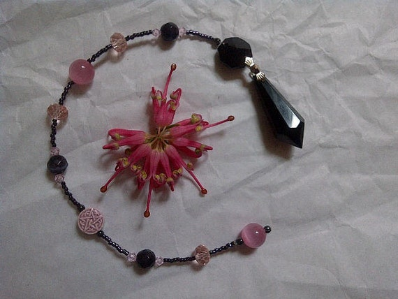 Cherry Fairy, a pagan made Pendulum for Divination