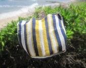 Stripe Sunset Crochet Blanket     Ready to Ship
