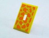 Wooden Giraffe Print Light Switch Plate