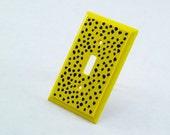 Wooden Cheetah Print Light Switch Plate