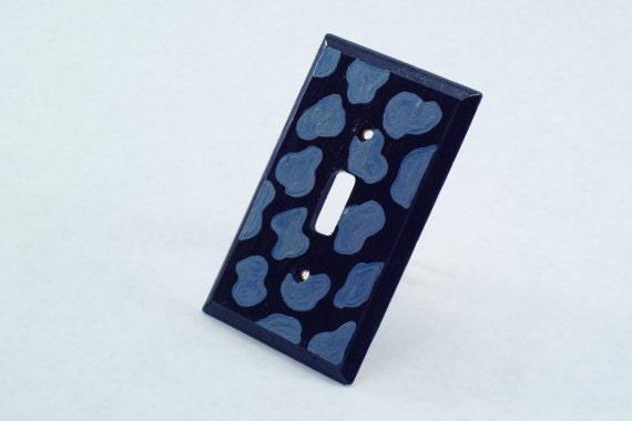 Wooden Jaguar Print Light Switch Plate