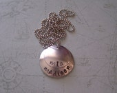 Personalized Handstamped Two Names on Two Silver Discs