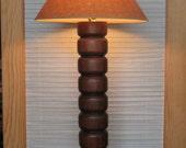 Lamp Turned - Ash - Handturned Lamp - Ashwood Lamp