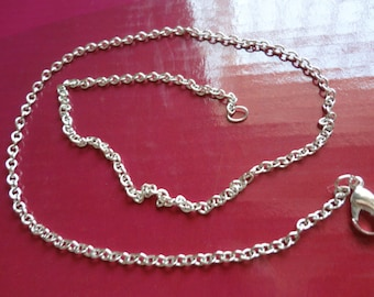 10pcs 2.0mm 17 inch silver plated chain necklace with lobster clasp