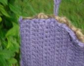 lilac scrubby mitt