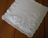 Kalocsa embroidery white doily hand embroidered with traditional hungarian motif