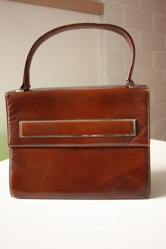Vintage Brown Clutch by Faigen & Sons
